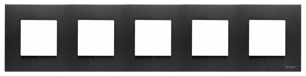 Рамка 5 постова, антрацит Zenit ABB NIESSEN N2275 AN