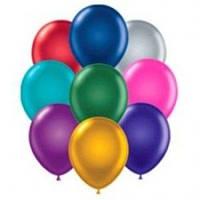 """Гелієева кулька, 25 см 10"""", колір асорті неон під запуск"""