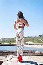 """Летний женский брючный костюм-двойка """"Валетта"""" с топом (2 цвета) , фото 2"""