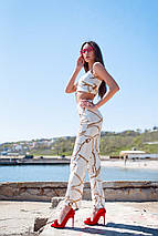 """Летний женский брючный костюм-двойка """"Валетта"""" с топом (2 цвета) , фото 3"""