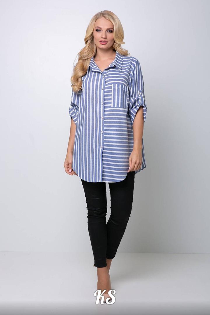 Летняя льняная женская рубашка . размеры 54,56,58,60,