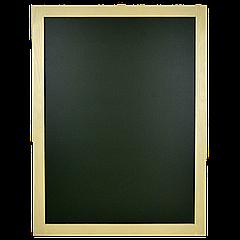 Доска меловая зелёная (в светлой рамке) 800*600