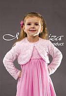 Болеро рожеве хутряне для дівчинки розмір 80-110