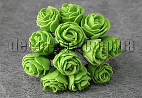 Букет зеленых розочек из латекса 2,5-3,0 см
