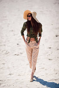 """Летние короткие женские брюки """"Краков"""" с карманами (2 цвета)"""