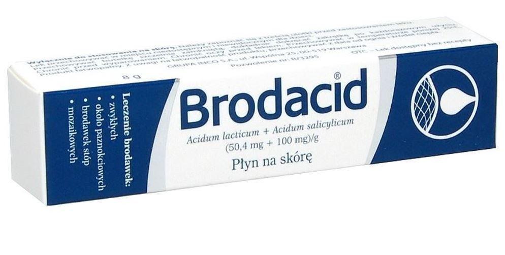 Cредство для удаления  бородавок и папиллом Brodacid