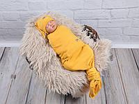 Безразмерная пеленка кокон на липучках Каспер, Ёжик, фото 1