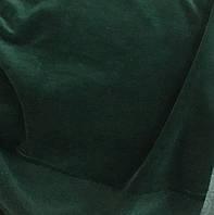 Велюр хлопковый  изумрудный зелёный ринг, фото 1