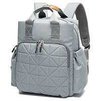 Женская сумка-рюкзак для мам с термокарманами, ковриком и кольцами для крепления на коляску, 15л