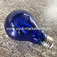 Светодиодная лампочка Filament А60 4Вт Е27 синяя прозрачная, фото 1