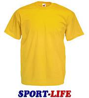 Мужская футболка оптом FRUIT OF THE LOOM VALUEWEIGHT T Солнечно-желтая