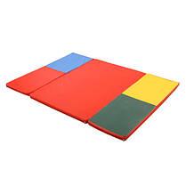 Гімнастичний мат складний Мат доміно 120х160х4 см, фото 3
