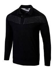 Оригинальный мужской пуловер Mercedes-AMG Men's Polo Pullover, Black (B66958666)