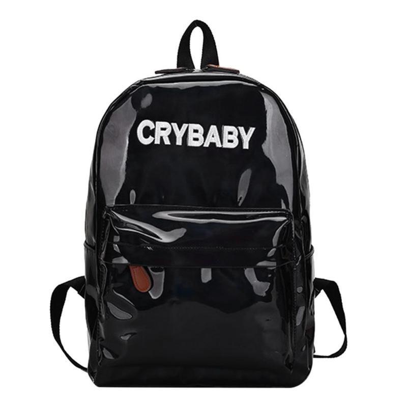 Голографічний жіночий рюкзак Cry Baby великий Mojoyce чорний (662/3)