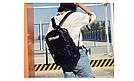 Голографічний жіночий рюкзак Cry Baby великий Mojoyce чорний (662/3), фото 2