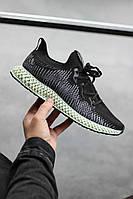 Мужские кроссовки Adidas AlphaEdge 4D Black/Green, Реплика, фото 1