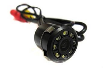 Камера заднего вида 1858 с подсветкой + фреза для установки в бампер