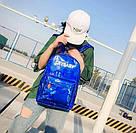 Голографический женский  рюкзак  Cry Baby большой Mojoyce синий (662/2), фото 2