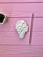 Фигурка из гипса для творчества Подсолнухи в вазе 10*7,5 см