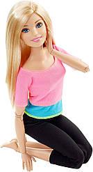 Кукла Barbie Йога Безграничные движения Шарнирная блондинка, Pink Top
