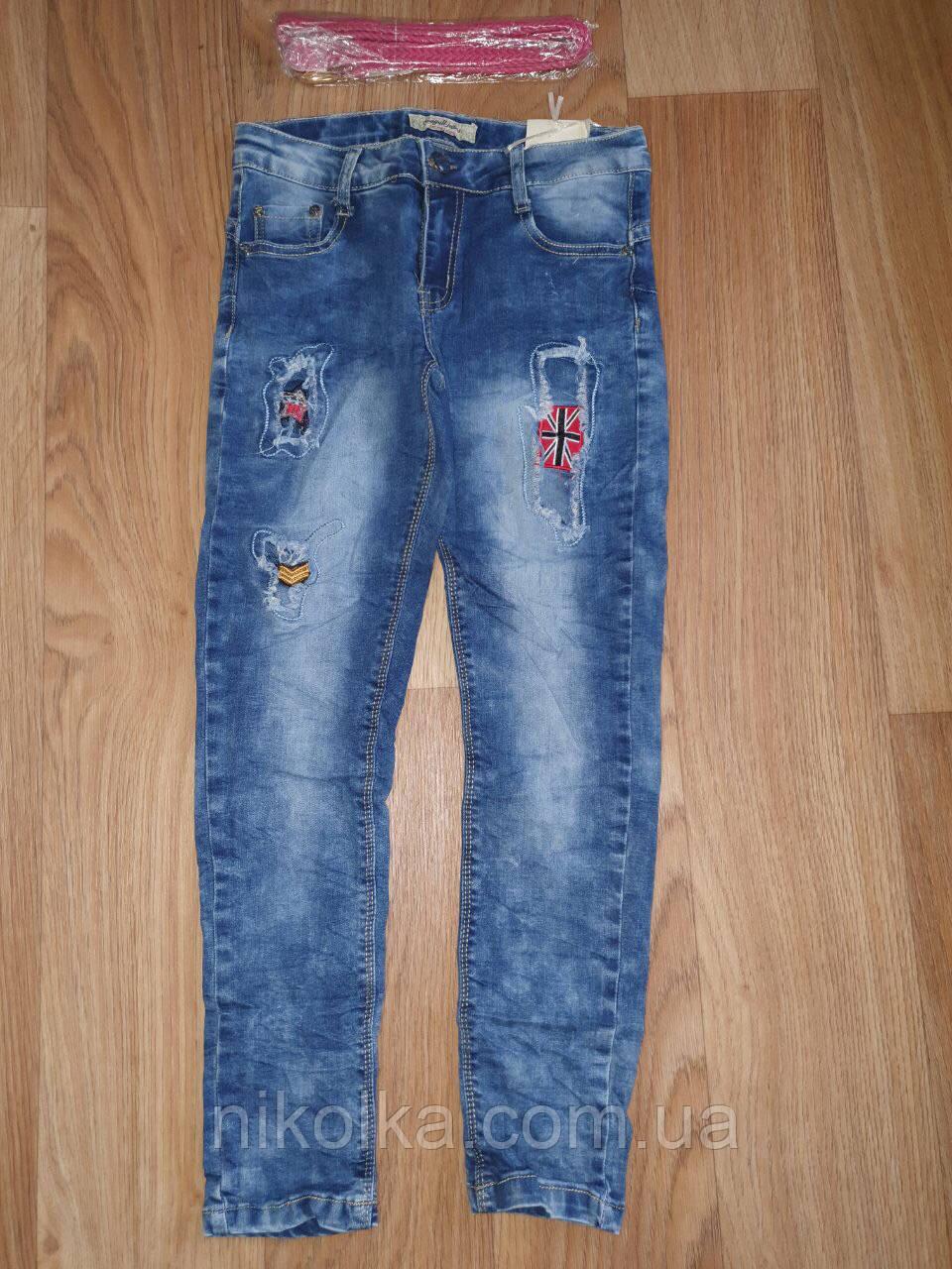 Джинсовые брюки для девочек оптом, Seagull, 134-164 рр., Арт. CSQ-88869
