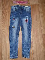 Джинсовые брюки для девочек оптом, Seagull, 134-164 рр., Арт. CSQ-88869, фото 1