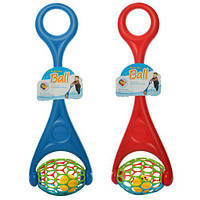 Каталка детская с ручкой Смайл 3502: : шар с погремушкой, 2 цвета