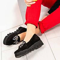 Туфли женские с бантом с камней, фото 1