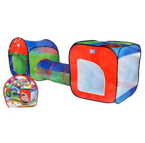 Детская игровая палатка - тоннель. 2 в 1 А999-147. Размер 240 х 74 х 84 см.