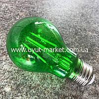 Светодиодная лампочка А60 4Вт Е27 зеленая