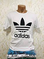 Футболка мужская хлопок с принтом 3D Adidas - Турция размер M - 2XL(46-52) Ростовка