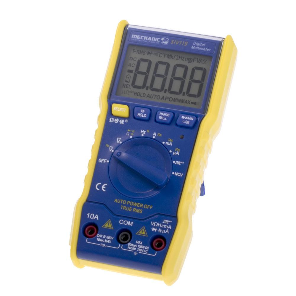 Купить Мультиметры, Мультиметр SIV-119 (True RMS), Mechanic