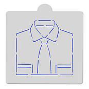 Трафарет Рубашка с галстуком 10 см HMA-М550