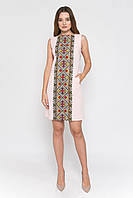 Платье персиковое женское с вышивкой без рукавов Рушнычок MOTYV by Piccolo L