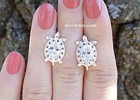 Серебряные серьги Черепашки, фото 1