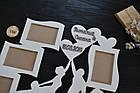 """Деревянная фоторамка """"Свадебная пара"""". Фоторамка на свадьбу, свадебная фоторамка, подарок на свадьбу, 5 фото, фото 2"""