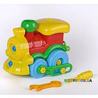 Развивающий конструктор «Паровозик» Toys Plast ИП.30.003