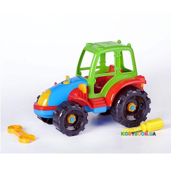 Развивающий конструктор «Трактор» Toys Plast ИП.30.005