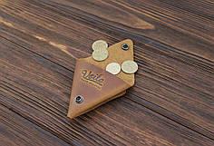Монетница кожаная ручной работы VOILE vl-cn1-lbrn