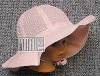 Детская р 46-48 9-18 мес летняя панамка на завязках девочке для девочки на лето тонкая легкая 4714 Розовый 48