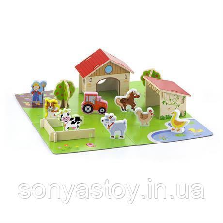 """Игровой набор """"Ферма"""", 30 элементов. деревянный"""