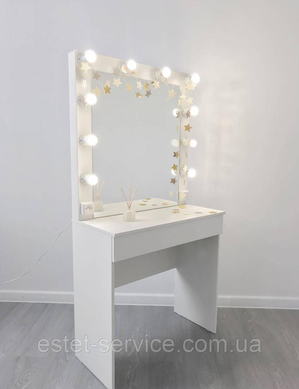 Гримерный стол визажиста на одну шухляду без ручек