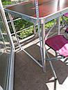 Стол складной для пикника + 4 стула + зонт 180 см Цвета Белый и Коричневый., фото 6