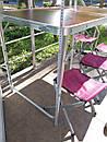 Стол складной для пикника + 4 стула + зонт 180 см Цвета Белый и Коричневый., фото 8