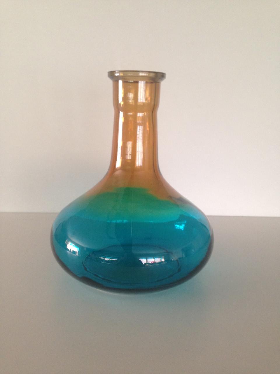 Колба для кальяна HookahTree голубая/ оранжевая