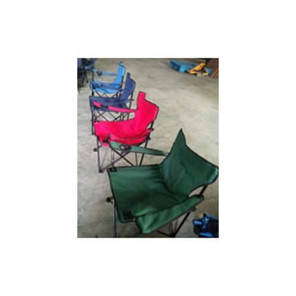 Стілець туристичний на риболовлю кемпінг із спинкою і підлокітниками 4 кольори, фото 2