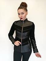 Кожаная куртка Oscar Fur 427 Черный, фото 1