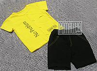 Детский летний костюм 92-98 1-2 года из Лакоста комплект для мальчика футболка и шорты на лето 4727 Желтый 98