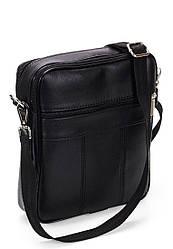 Мужская сумка барсетка из экокожи чёрная (10-00)