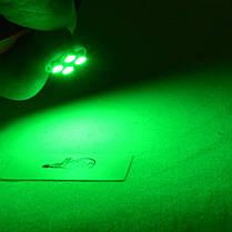 Светодиодная автомобильная лампа в подсветку с цоколем Т10(W5W) 1210-4 (Зеленый), фото 2